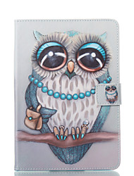 cheap -Case For Apple iPad Mini 5 / iPad New Air(2019) / iPad Mini 3/2/1 Wallet / Card Holder / with Stand Full Body Cases Owl Hard PU Leather