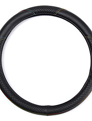 cheap -Universal 38cm Black PU leather Anti-slip Car Steering Wheel Covers