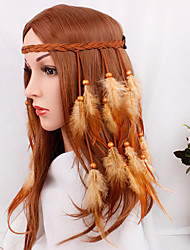 cheap -Gypsy American Indian Adults' Women's Bohemian Retro Ethnic Headpiece Feather Samba Headdress For Party Halloween Festival Wood Feathers Plush Feathers Vintage Headwear