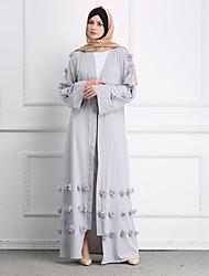 cheap -Adults' Women's Ethnic Arabian Dress Abaya Kaftan Dress For Halloween Daily Wear Festival Elastane Polyster Flower / Floral Long Length Dress 1 Belt