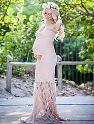 cheap -Women's Maternity Daily Maxi Bodycon Dress Blushing Pink M L XL