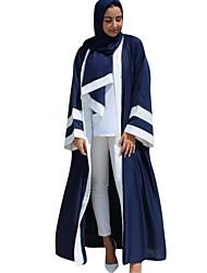 cheap -Adults' Women's Ethnic Arabian Dress Abaya Kaftan Dress For Halloween Daily Wear Festival Elastane Polyster Patchwork Long Length Dress Headpiece 1 Belt