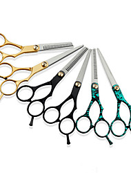 cheap -Hair Styling Tools Stainless Steel Accessory Kits scissors Best Quality 2pcs Daily Simple Golden Blue Natural Black