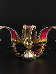 cheap -Venetian Mask Masquerade Mask Half Mask Inspired by Cosplay Venetian Black Red Halloween Halloween Carnival Masquerade Adults' Women's Female