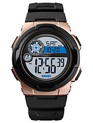 cheap -SKMEI Men's Sport Watch Military Watch Digital Watch Digital Silicone Black / Green 50 m Alarm Calendar / date / day Chronograph Digital Casual Fashion - Green Blue Rose Gold One Year Battery Life