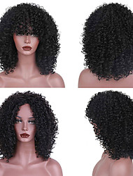 cheap -Synthetic Wig Curly Layered Haircut Wig Short Natural Black Synthetic Hair 18 inch Women's Women Synthetic Best Quality Black Laflare