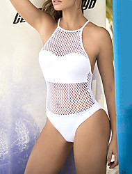 cheap -Normal Polyester Swimwear & Bikinis Sexy Patchwork Daily Wear Criss Cross