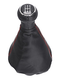 cheap -5 Speed Gear Shift Knob With Leather Boot For VW Golf 3 MK3 92-98/Vento 92-98