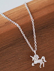 cheap -Pendant Necklace Clavicle Chains Dainty Geek & Chic Sweet Lolita Princess Lolita Silver For Unicorn Cosplay Women's Costume Jewelry Fashion Jewelry / 1 Necklace