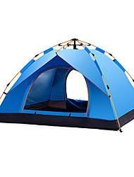 Недорогие -DesertFox® 3-4 человека Автоматический тент На открытом воздухе Легкость С защитой от ветра Дожденепроницаемый Двухслойные зонты Автоматический Палатка >3000 mm для