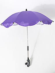 cheap -Umbrella with Clamp Sun umbrella Water-Repellent UV Protection Collapsible UV resistant Steel + Rubber Nylon Outdoor Exercise Camping / Hiking / Caving Traveling Picnic Blue Pink Lavender 1 pcs