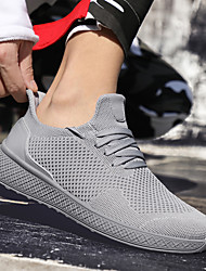 cheap -Men's Light Soles Mesh Fall & Winter Sporty / Casual Athletic Shoes Running Shoes / Walking Shoes Breathable Black / White / Red