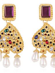 cheap -Women's Drop Earrings Heart Imitation Pearl Earrings Jewelry Gold For Street 1 Pair