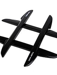 cheap -4pcs Hypersonic Pointy Tail Car Bumper Strip Door Jamb Protector Door Cash Sheet Scratch Stickers