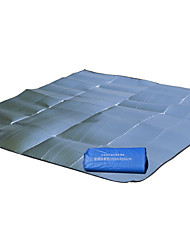 cheap -Picnic Blanket Outdoor Camping Lightweight Fast Dry Moistureproof Aluminium Foil Beach Camping / Hiking / Caving Picnic for 2 person Spring All Seasons Silver