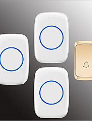 cheap -Wireless One to Three Doorbell Music / Ding dong Non-visual doorbell Surface Mounted