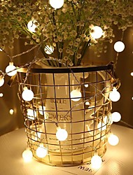 cheap -Holiday Light Chain Ball LED String Lighting6M USB Lamp Bulb Light String Waterproof Outdoor Wedding Christmas Led String