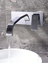 cheap -Bathroom Sink Faucet - Widespread Chrome Other Single Handle Two HolesBath Taps