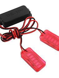 cheap -LED Motorcycle Laser Fog Light Anti Collision Tail Auto Brake Warning Lights Parking Lamp