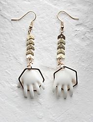 cheap -Harajuku Girls Hoop Earrings Geek & Chic Punk Acrylic Alloy For Party Dailywear Women's Costume Jewelry Fashion Jewelry / 1 Pair of Earrings