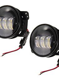 cheap -2pcs 4inch 30W 6500K 144LM LED Fog Lights for Jeep Wrangler JK Dodge Magnum Chrysler Cruiser