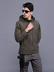 cheap -Esdy Men's Hiking Jacket Winter Outdoor Windproof Breathable Rain Waterproof Wear Resistance 3-in-1 Jacket Top Real Leather Single Slider Outdoor Exercise Army Green / Khaki
