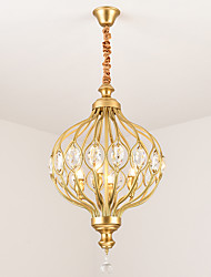 cheap -JLYLITE 4-Light Globe Chandelier Ambient Light Painted Finishes Metal Mini Style 110-120V / 220-240V