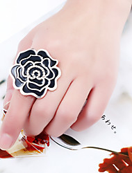 cheap -Women's Open Ring 1pc White Black Red Rhinestone Alloy irregular Stylish Romantic Causal Evening Party Jewelry Classic Roses Lovely