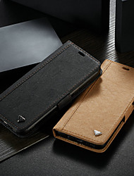 cheap -Case For Samsung Galaxy S8 Wallet / Card Holder / with Stand Full Body Cases Solid Colored Hard PU Leather