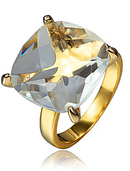 cheap -Women's Ring Engagement Ring Cubic Zirconia 1pc Gold 18K Gold Plated Fashion Party Engagement Jewelry Classic