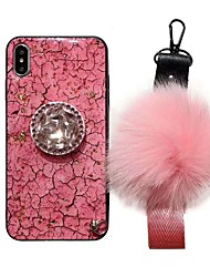 cheap -Case For Apple iPhone XS / iPhone XR / iPhone XS Max Rhinestone / with Stand Back Cover Rhinestone Soft Silicone