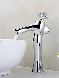 cheap -Bathroom Sink Faucet - Widespread Electroplated Other Single Handle One HoleBath Taps