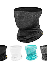cheap -CoolChange Neck Gaiter Neck Tube Pollution Protection Mask Solid Color UV Resistant Breathable Sweat wicking Bike / Cycling Dark Grey White Light Grey for Men's Women's Adults' Cycling / Bike Camping