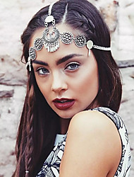 cheap -American Indian Headdress Adults' Bohemian Style Women's Silver Alloy Party Cosplay Accessories Halloween / Carnival / Masquerade Costumes / Female