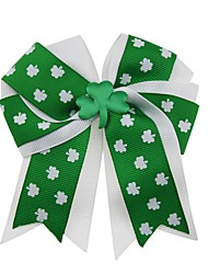 cheap -Carnival Headpiece Adults' Men's Halloween Carnival St Patricks Day Festival / Holiday Fabric Green Carnival Costumes Shamrock Novelty 3 Leaf