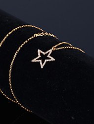cheap -Prince Necklace Clavicle Chains Dainty Star Style Imitation Diamond Alloy For Party Dailywear Gift Women's Costume Jewelry Fashion Jewelry / 1 Necklace