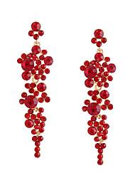 cheap -Women's Red Drop Earrings Long Stylish Elegant Earrings Jewelry Gold / Black For Party Street 1 Pair
