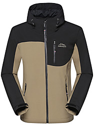 cheap -Men's Hiking Jacket Outdoor Thermal / Warm Windproof UV Resistant Rain Waterproof Down Jacket Top Softshell Waterproof Climbing Camping / Hiking / Caving Snowsports Dark Grey / Army Green / Khaki