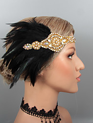 cheap -Vintage 1920s The Great Gatsby Feathers Headbands / Headdress / Headpiece with Rhinestone / Crystal / Feather 1 pc Wedding / Party / Evening Headpiece
