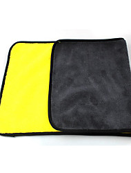 abordables -double couleur microfibre lave-auto serviette nettoyage séchage soin chiffon ourlage fort absorbant