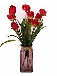Недорогие -Искусственные Цветы 2 Филиал Классический Стиль Modern Тюльпаны Букеты на стол