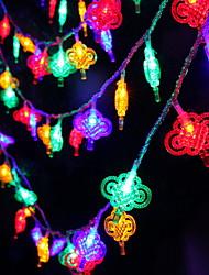 abordables -5m nœud chinois guirlande lumineuse 40 leds multi couleur nouvel an décoratif à la maison 220-240 v 1 set