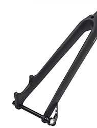cheap -BIKEIN Bike Fork Road Bike Fork 28.6 mm Carbon Fiber Lightweight High Strength for Cycling Bicycle Road Cycling Black