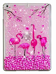 cheap -Case For Apple iPad Air / iPad (2018) / iPad Air 2 Flowing Liquid / Pattern Back Cover Flamingo / Glitter Shine Hard PC / iPad (2017)