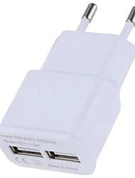 Недорогие -Портативное зарядное устройство / Беспроводное зарядное устройство Зарядное устройство USB Евро стандарт Нормальная 2 USB порта 2 A DC 5V для