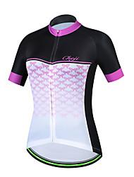 cheap -cheji® Women's Short Sleeve Cycling Jersey Orange+White Sky Blue+White Pink Bike Jersey Top Mountain Bike MTB Road Bike Cycling Breathable Sports Terylene Clothing Apparel