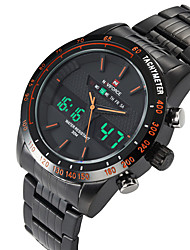 cheap -Men's Dress Watch Wrist Watch Digital Watch Quartz Black / Silver Water Resistant / Waterproof Calendar / date / day Casual Watch Analog - Digital Classic Fashion - Silvery / White Orange / Black