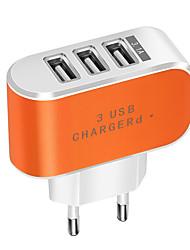cheap -Portable Charger USB Charger EU Plug Normal 3 USB Ports 2 A DC 5V for