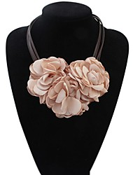 cheap -Women's Statement Necklace Necklace Unique Design Cord Fabric Dark Green Gray Black Rose Red Beige 48 cm Necklace Jewelry 1pc For Wedding Engagement Club Valentine Bar