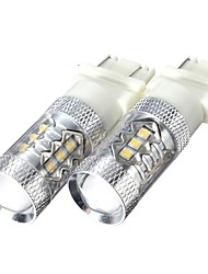 cheap -Pair 3157 High Power 80W 6000K Super White LED Back up Reverse Lights Bulbs